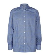 Turnbull And Asser Checked Shirt Male Blue
