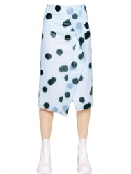 Marc By Marc Jacobs Polka Dot Printed Latex Pencil Skirt