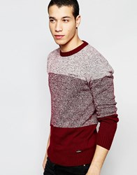 Firetrap Stripe Knitted Jumper Red