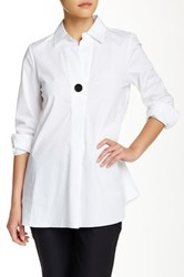 Ellen Tracy Single Button Tunic White