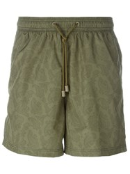 Etro Paisley Print Swim Shorts Green