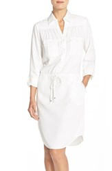 Women's Eci Embroidered Tencel Shirt Dress