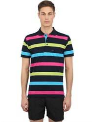 Paul And Shark Active Striped Cotton Pique Polo