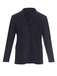 Ermenegildo Zegna Wool And Silk Blend Quilted Blazer