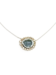 Kimberly Mcdonald White Gold And Geode Pendent Necklace Brown