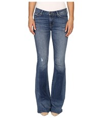 Hudson Mia Five Pocket Mid Rise Flare In Fierce Fierce Women's Jeans Multi