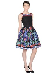 Andrew Gn Floral Jacquard And Fil Coupe Dress