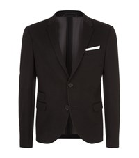 Neil Barrett Tech Jersey Tuxedo Blazer Male Black