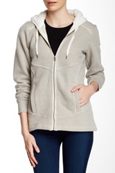 Columbia Greater Pike And Pine Faux Shearling Trim Hoodie Beige