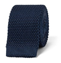 Burberry 5Cm Knitted Silk Tie Storm Blue