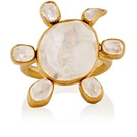 Munnu Women's Spinning Moonstone Turtle Ring No Color