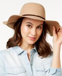 Bcbgeneration Charming Flannel Floppy Hat Camel Brown