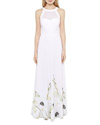 Ted Baker Adanya Pearly Petal Maxi Dress Nude Pink