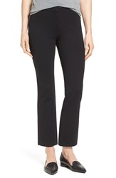 Halogenr Petite Women's Halogen Kick Flare Knit Ankle Pants Black