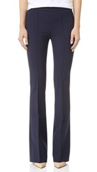 Victoria Beckham Flare Trousers Navy Fruit Patch