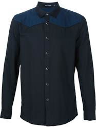 Blk Dnm Panelled Shirt Black