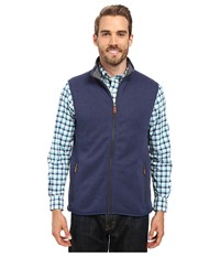 Vineyard Vines Sweater Fleece Full Zip Vest Deep Bay Men's Vest Blue