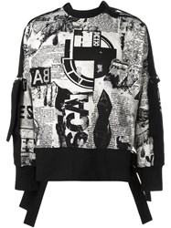 Ktz 'Newspaper Print Bondage' Sweatshirt Black