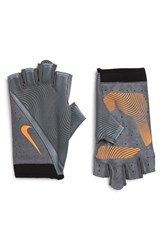 Nike Men's 'Havoc' Training Gloves Grey Orange