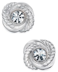 Kate Spade New York Infinity And Beyond Crystal Knot Stud Earrings Silver