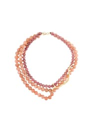 Wouters And Hendrix 'In Mood For Love' Sunstone Necklace Nude And Neutrals