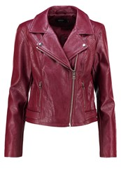 Only Onlfile Faux Leather Jacket Windsor Wine Bordeaux