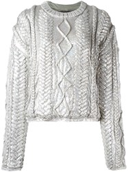 Filles A Papa 'Alba' Sweater Metallic