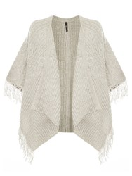 Evans Grey Cable Tassle Cardigan