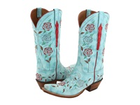 Lucchese L4685 Destroyed Robins Egg Blue Goat Cowboy Boots Green