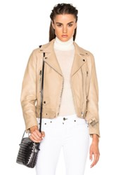 Acne Studios Mock Leather Jacket In Neutrals Brown Neutrals Brown
