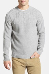 Wallin And Bros Mixed Knit Crewneck Sweater Gray