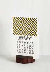 Wood You Happen To Know The Date Calendar Mod Retro Vintage Desk Accessories Modcloth.Com