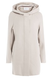 Harris Wharf London Felted Wool Hooded Coat Beige