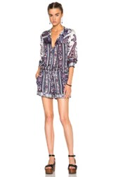 Etoile Isabel Marant Isabel Marant Etoile Tayler Paisley Print Romper In Blue Floral Purple Abstract