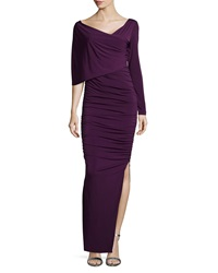 Melissa Masse One Sleeve Ruched Column Dress