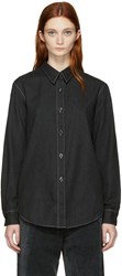 Christophe Lemaire Black Pointed Collar Shirt