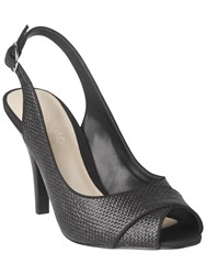 Phase Eight Rachel Peep Toe Sling Back Shoes Black