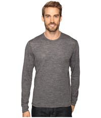 Hot Chillys Wool Double Layer Crew Neck Charcoal Heather Men's Clothing Gray