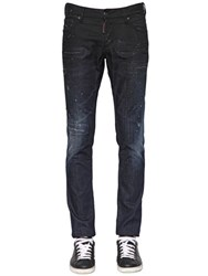 Dsquared 18Cm Slim Fit Baffo Stretch Denim Jeans