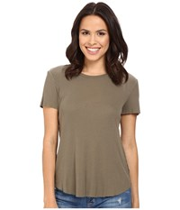 Splendid 2X1 Fitted Tee Military Olive Women's T Shirt