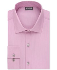 Kenneth Cole Reaction Men's Tall Slim Fit Techni Stretch Performance Dress Shirt Pink