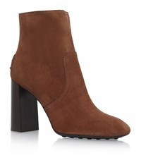 Tod's Gomma Tronchetto Heeled Boots Female Brown