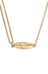 Women's Alex And Ani 'Providence' Pull Chain Feather Pendant Necklace Gold