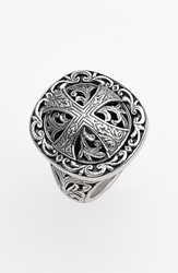 Konstantino 'Classics' Cross Dome Ring Silver