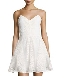 Soloiste Lace Sleeveless Fit And Flare Dress White
