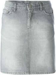 Helmut Lang Vintage Distressed Denim Skirt