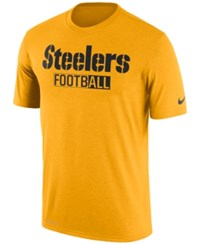 Nike Men's Pittsburgh Steelers All Football Legend T Shirt Gold