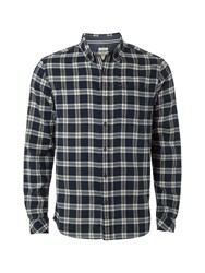 White Stuff Indigo Check Is Shirt Navy