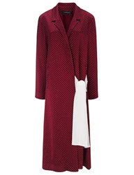 Thakoon Bordeaux Satin Wrap Robe