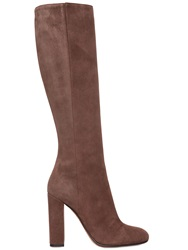Etro 105Mm Suede Boots Taupe